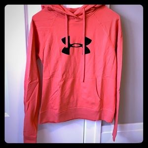 Under Armour Hoodie, pink. Size Small EUC